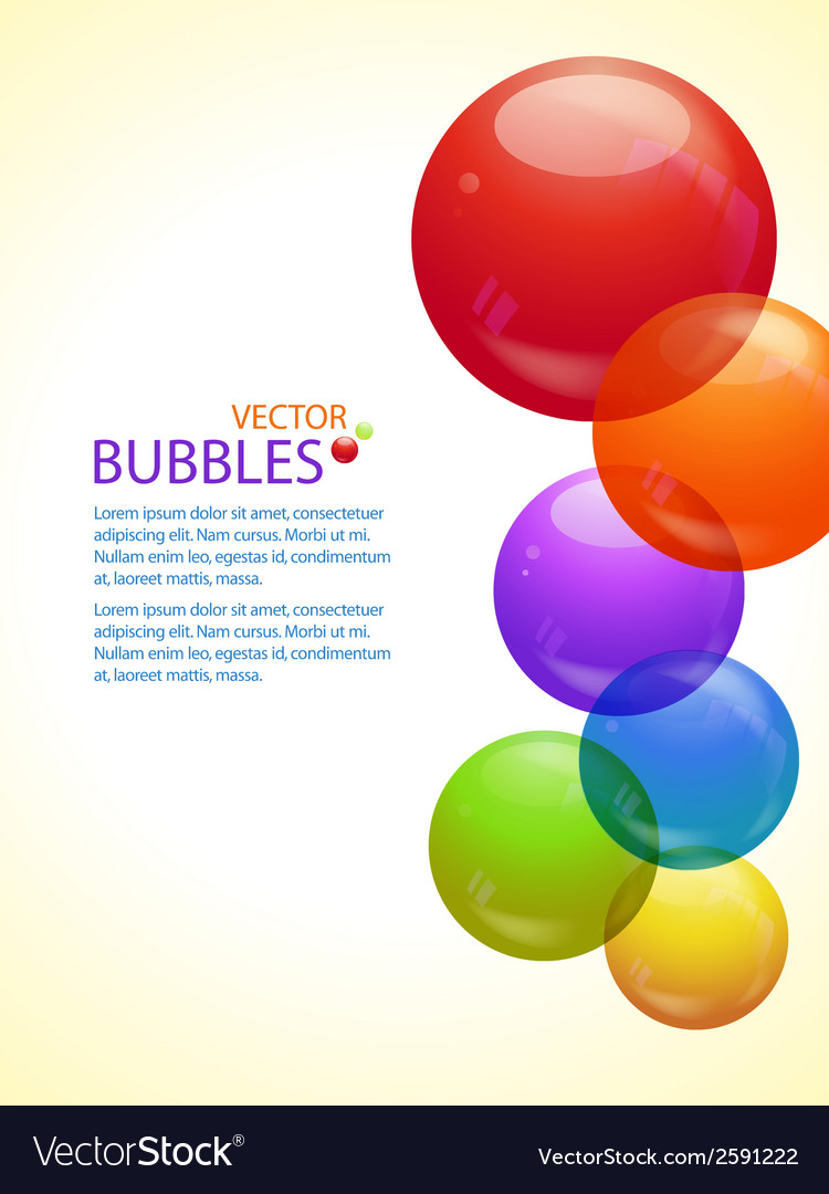Colourful bubble background portrait vector | Price: 1 Credit (USD $1)