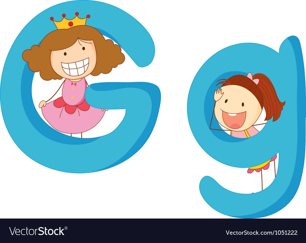 Kids in the letters series vector   Price: 3 Credit (USD $3)