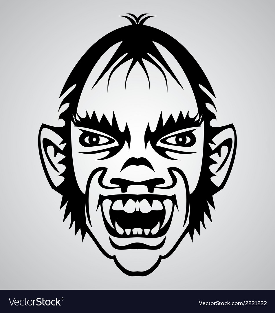 Vampire face tribal vector | Price: 1 Credit (USD $1)