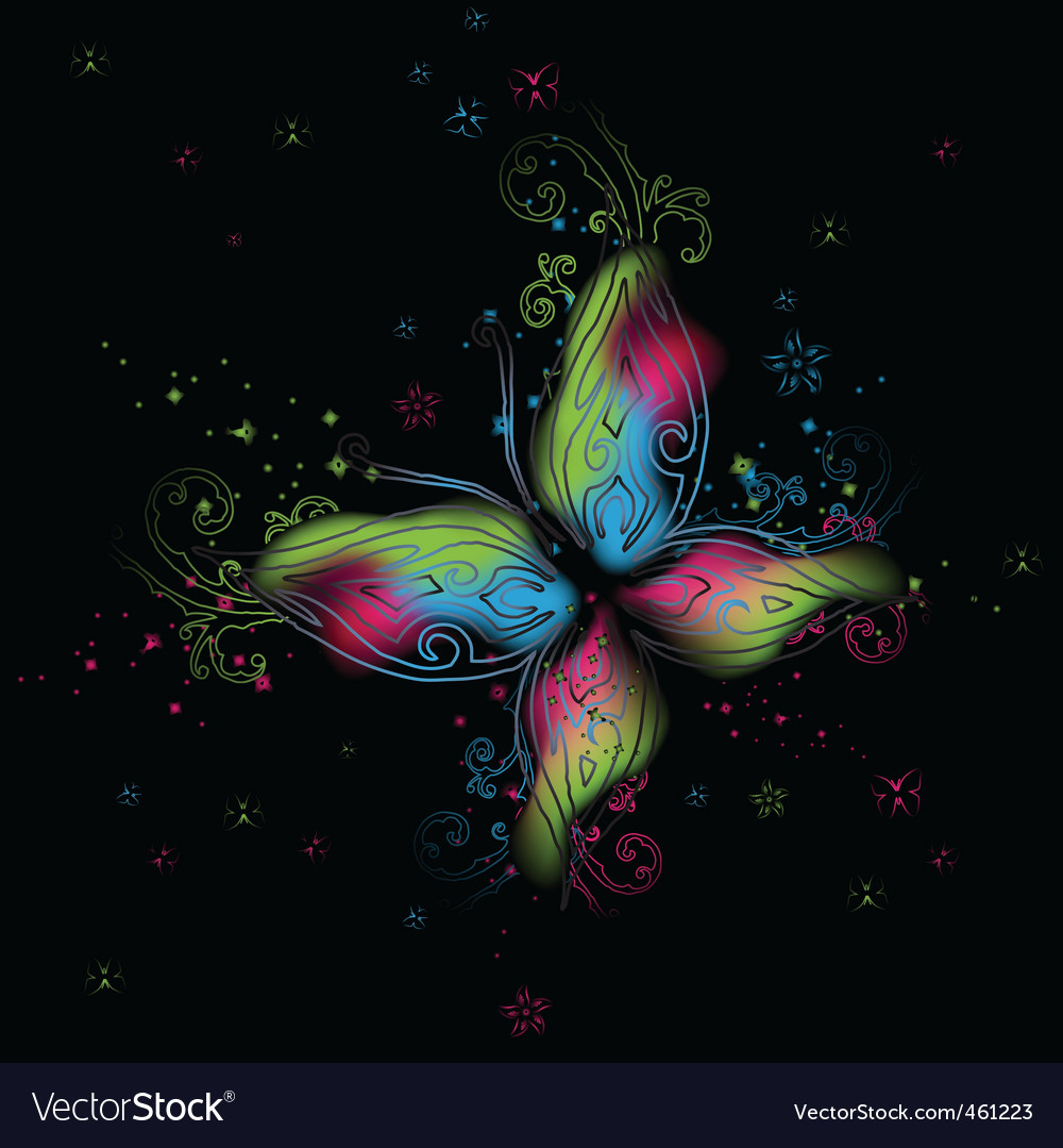 Abstract butterfly background vector | Price: 1 Credit (USD $1)
