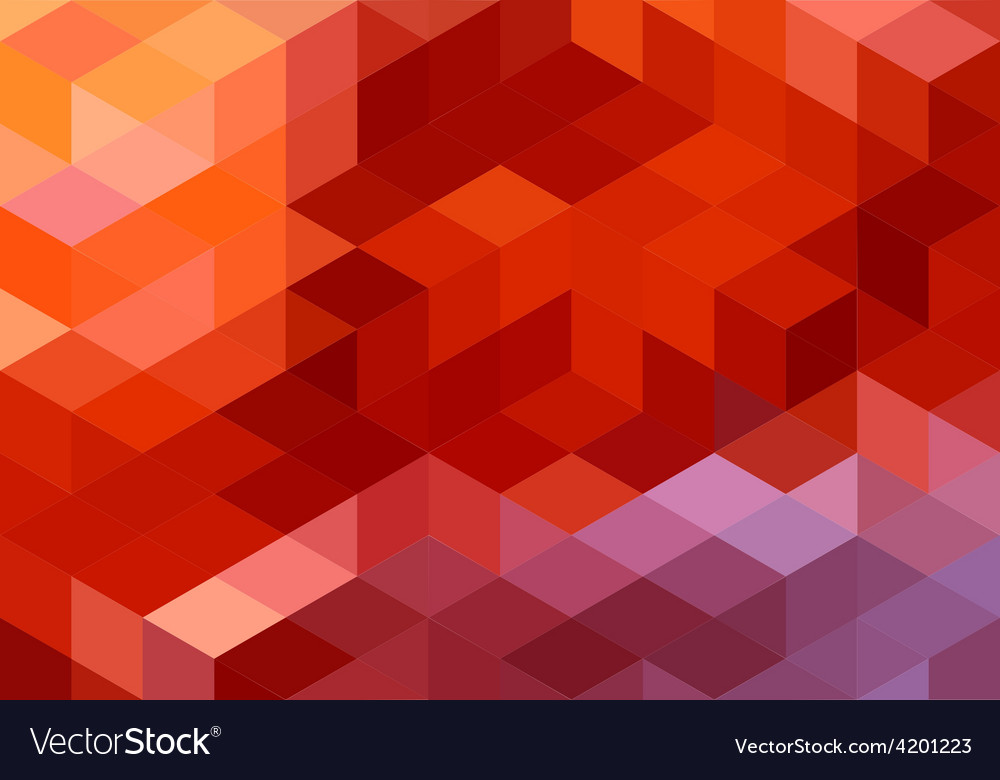Abstract red geometric background cube pattern vector | Price: 1 Credit (USD $1)