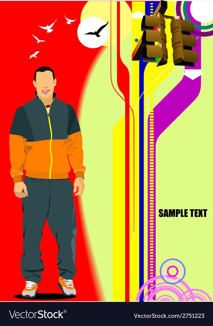 Al 0709 man poster vector | Price: 1 Credit (USD $1)