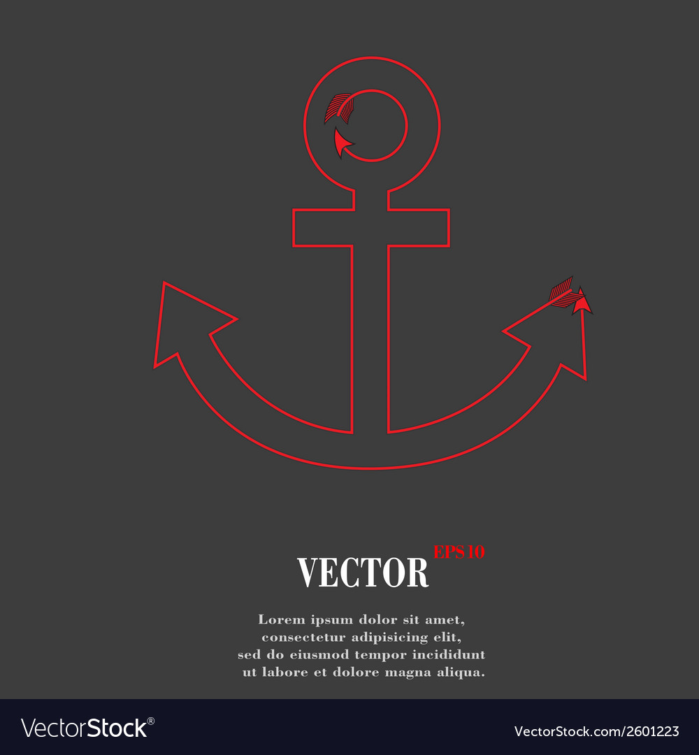Anchor flat modern web button and space for your vector | Price: 1 Credit (USD $1)
