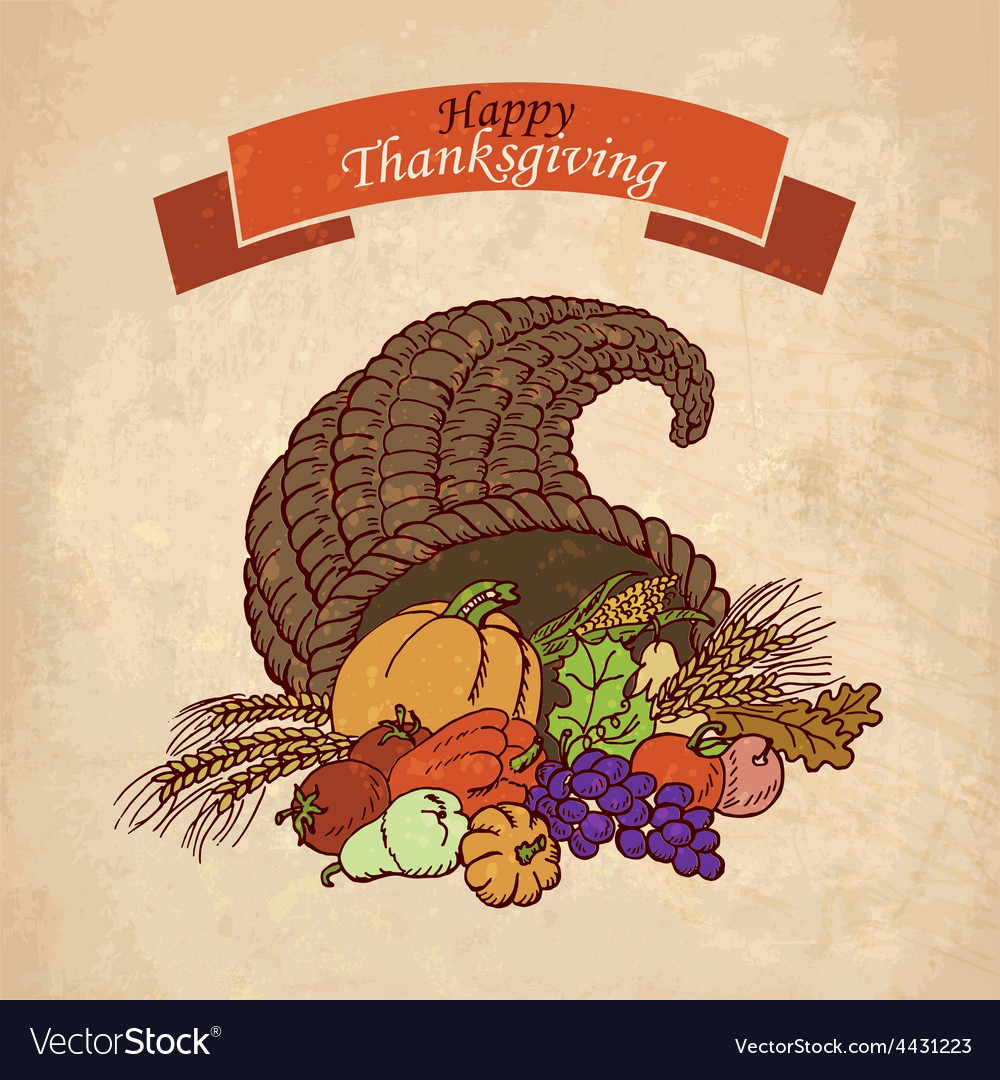 Background thanksgiving day greeting card vector | Price: 1 Credit (USD $1)