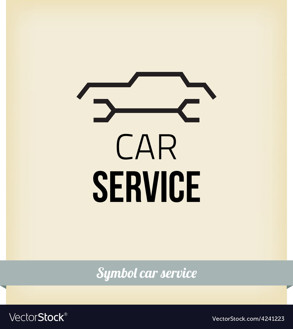 Car service sign vector | Price: 1 Credit (USD $1)