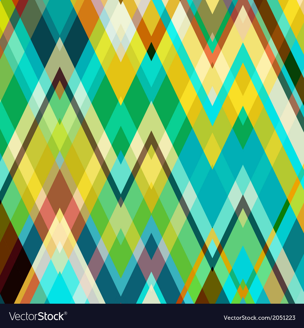 Color abstract zigzag background vector | Price: 1 Credit (USD $1)
