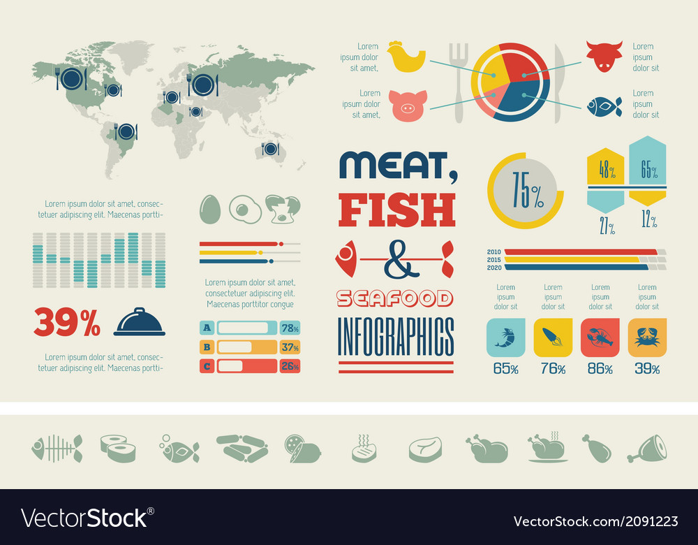 Food infographic template vector | Price: 1 Credit (USD $1)