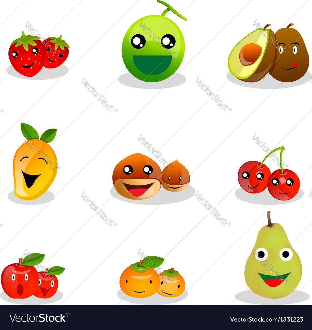 Funny fruit cartoon vector | Price: 1 Credit (USD $1)