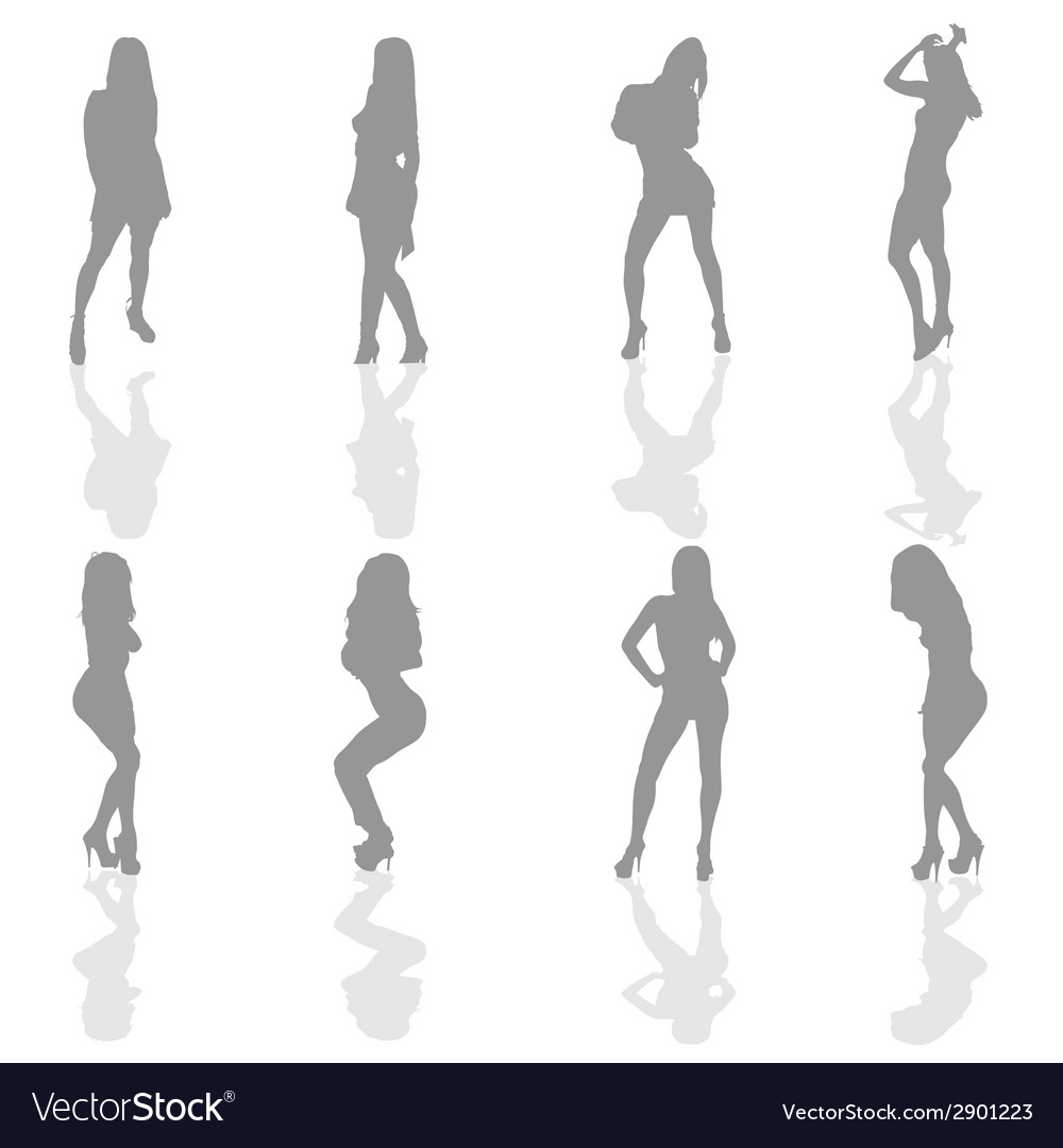 Girl in silver color silhouette vector   Price: 1 Credit (USD $1)