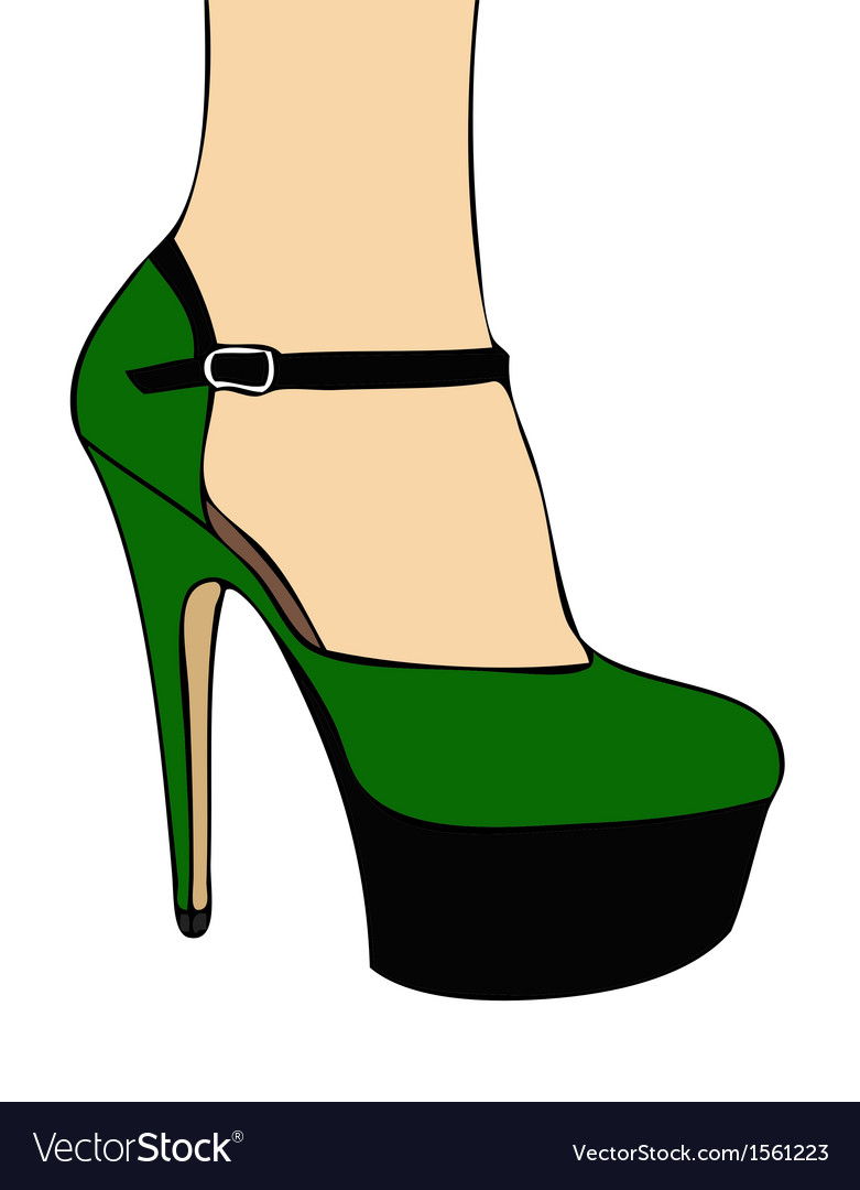 Green shoe vector | Price: 1 Credit (USD $1)