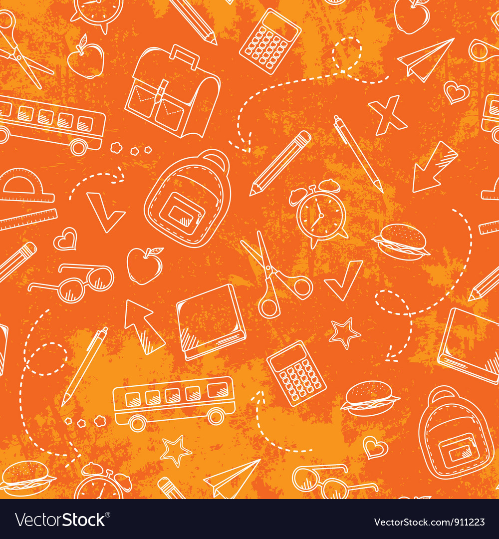 Grungy school pattern vector | Price: 1 Credit (USD $1)