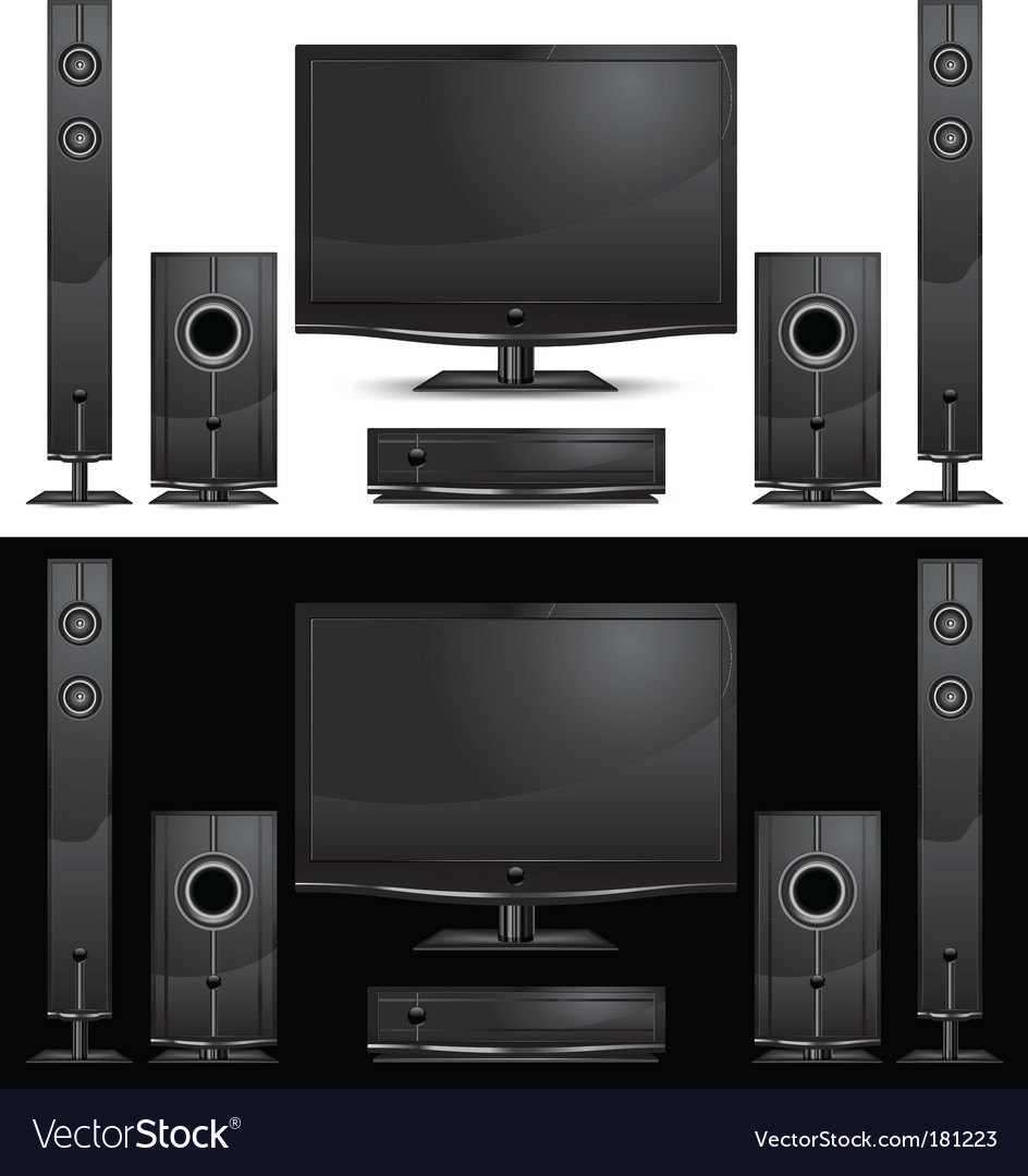 Home theatre vector | Price: 1 Credit (USD $1)