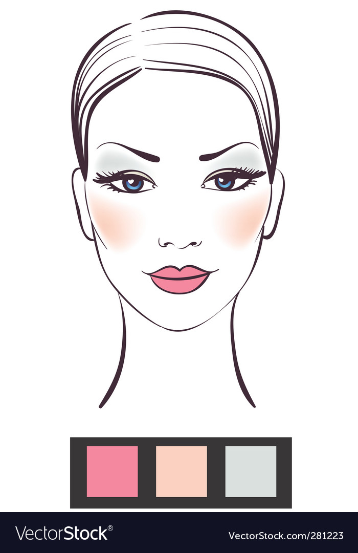 Makeup template vector | Price: 1 Credit (USD $1)
