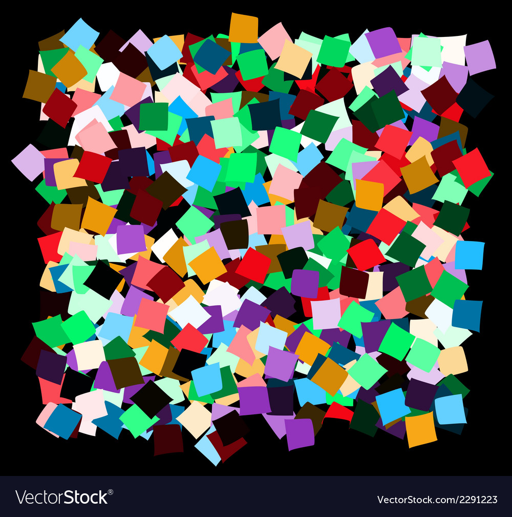 Mess of the color deformed squares vector | Price: 1 Credit (USD $1)