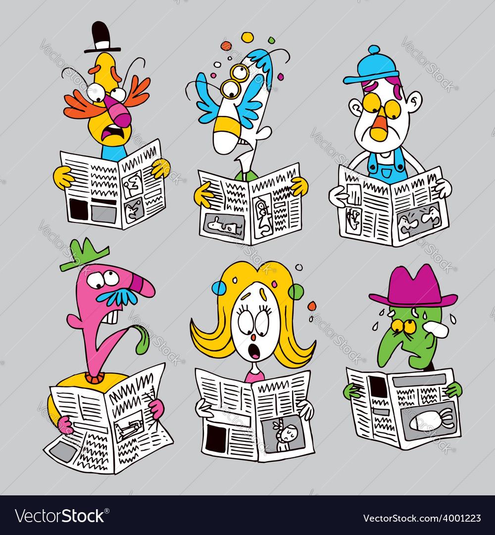 Newspaper readers vector   Price: 1 Credit (USD $1)