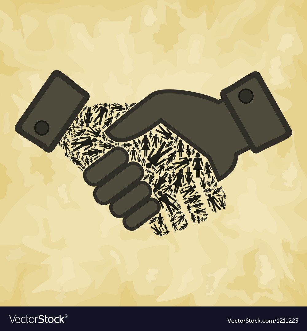 Person hand shake vector | Price: 1 Credit (USD $1)
