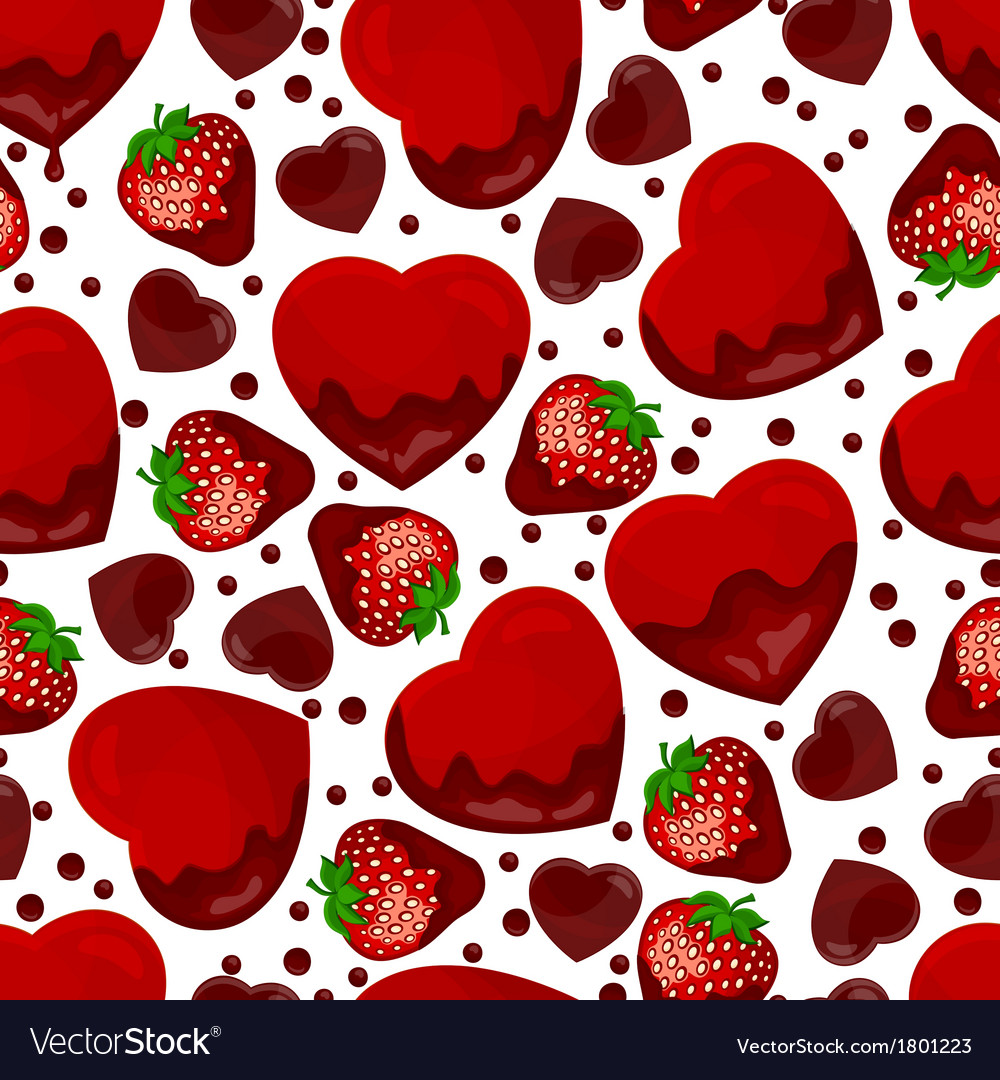 Seamless pattern from hearts vector | Price: 1 Credit (USD $1)