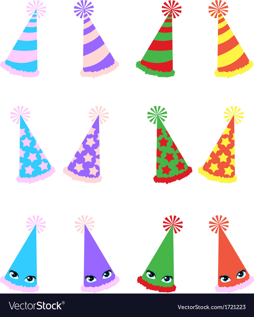 Various party hats pack vector | Price: 1 Credit (USD $1)