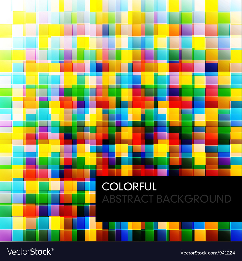 Abstract colorful background from square parts vector | Price: 1 Credit (USD $1)
