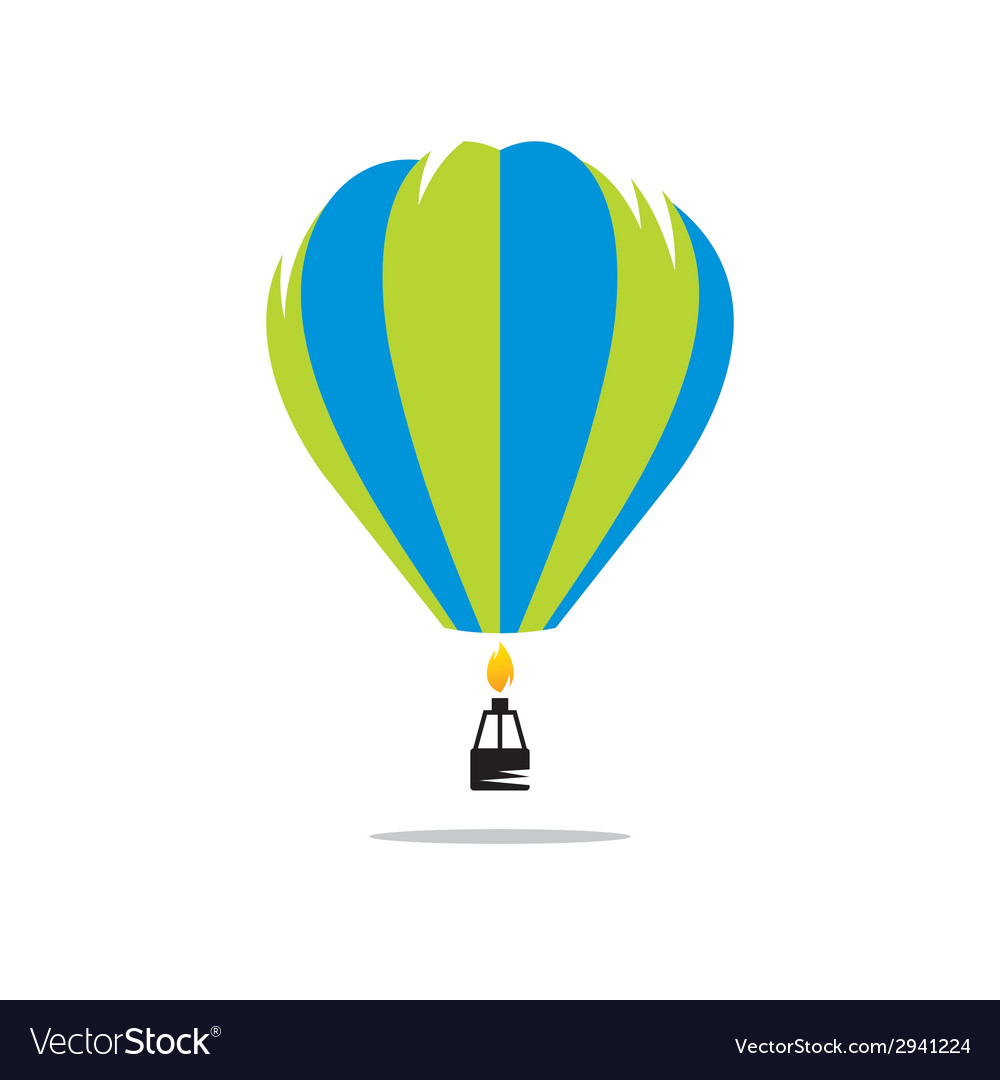 Air balloon sign vector | Price: 1 Credit (USD $1)