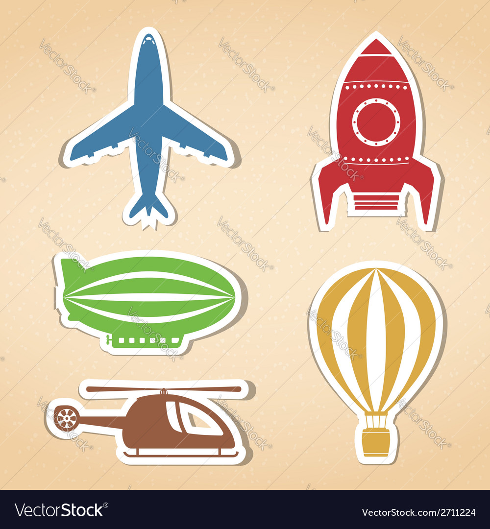 Air transport icons vector | Price: 1 Credit (USD $1)