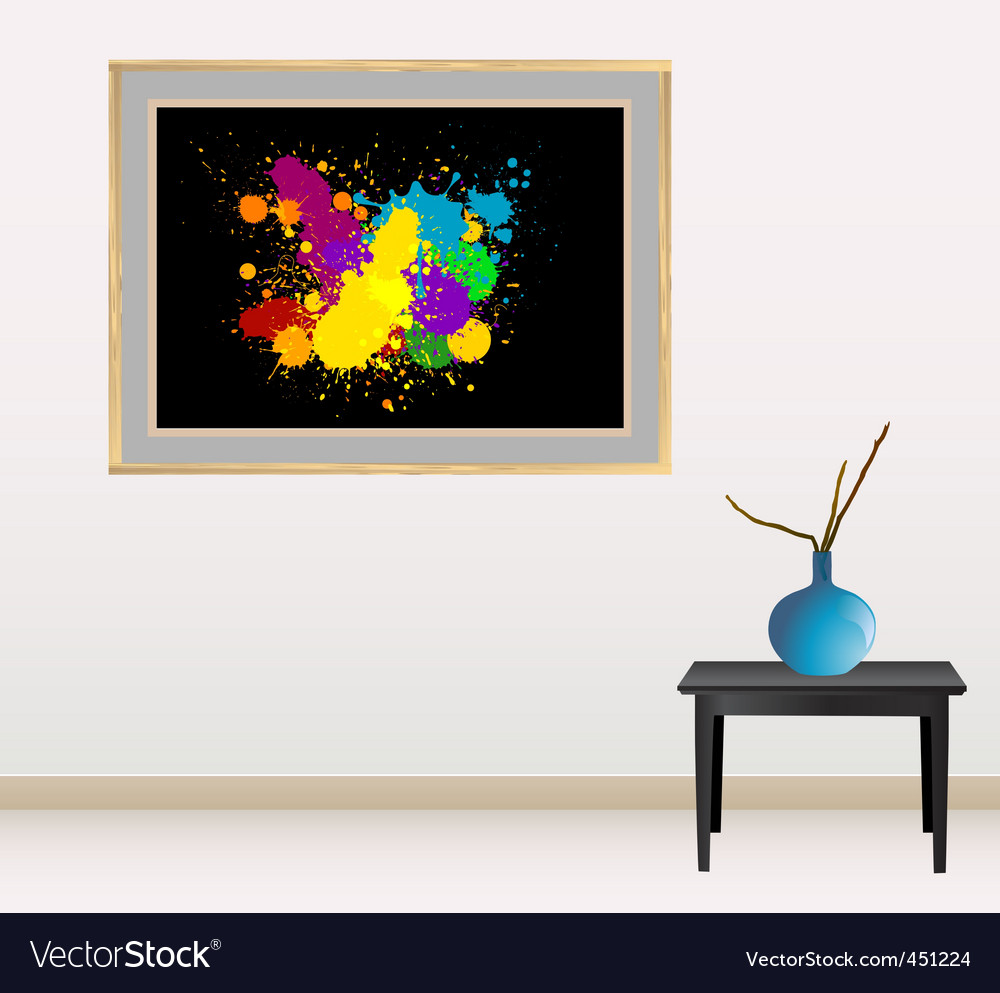 Canvas with splash vector | Price: 1 Credit (USD $1)