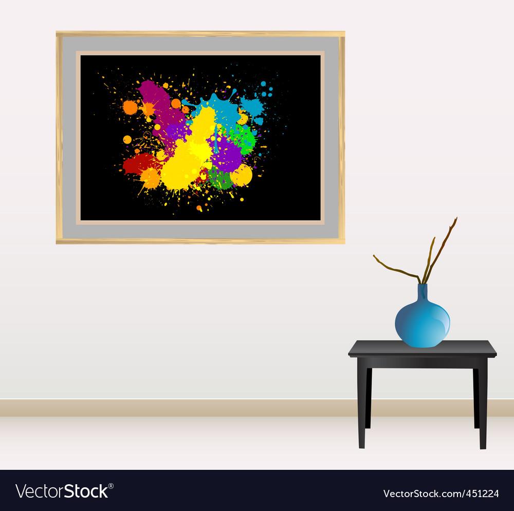 Canvas with splash vector | Price: 1 Credit (USD $1)