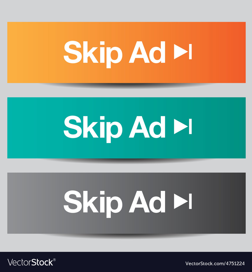 Colorful set of skip ad buttons vector | Price: 1 Credit (USD $1)