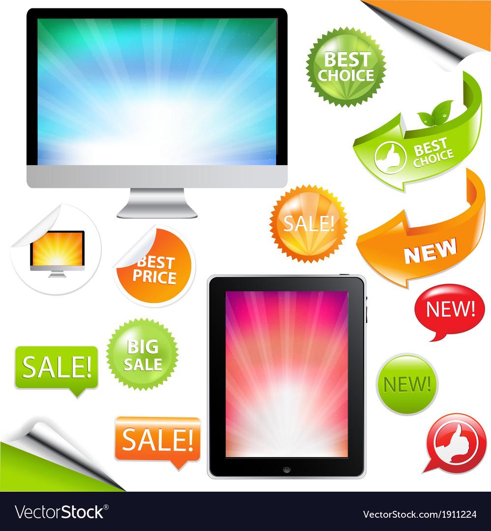 Contemporary gadgets vector | Price: 1 Credit (USD $1)