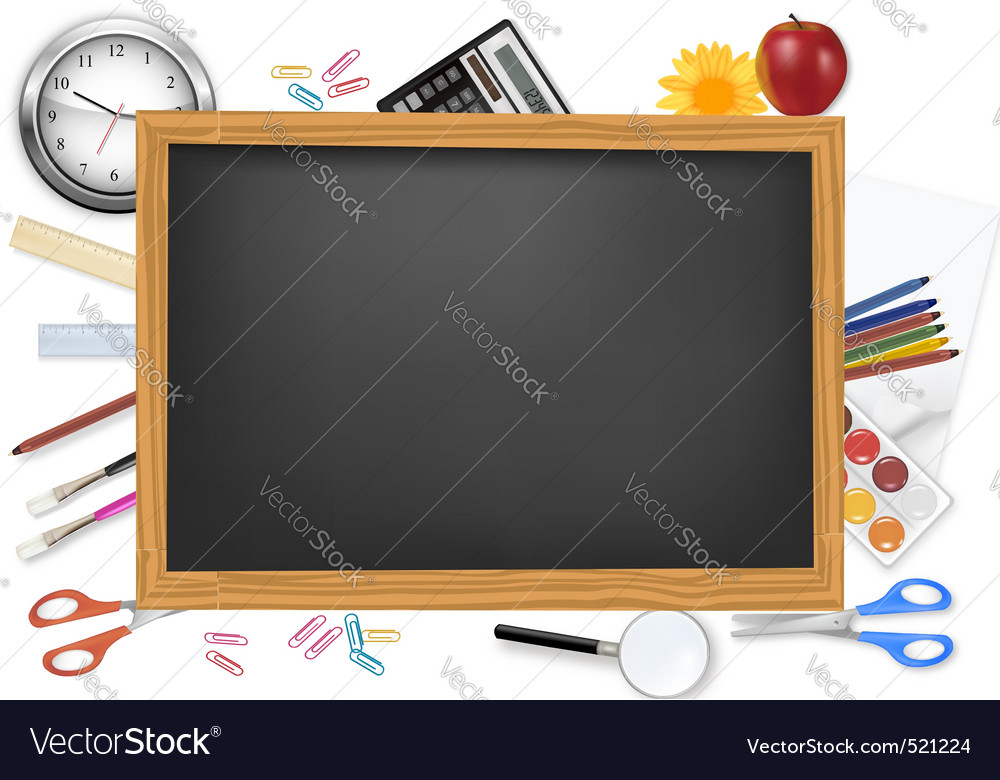 Desing of back to school on the black desk vector | Price: 3 Credit (USD $3)