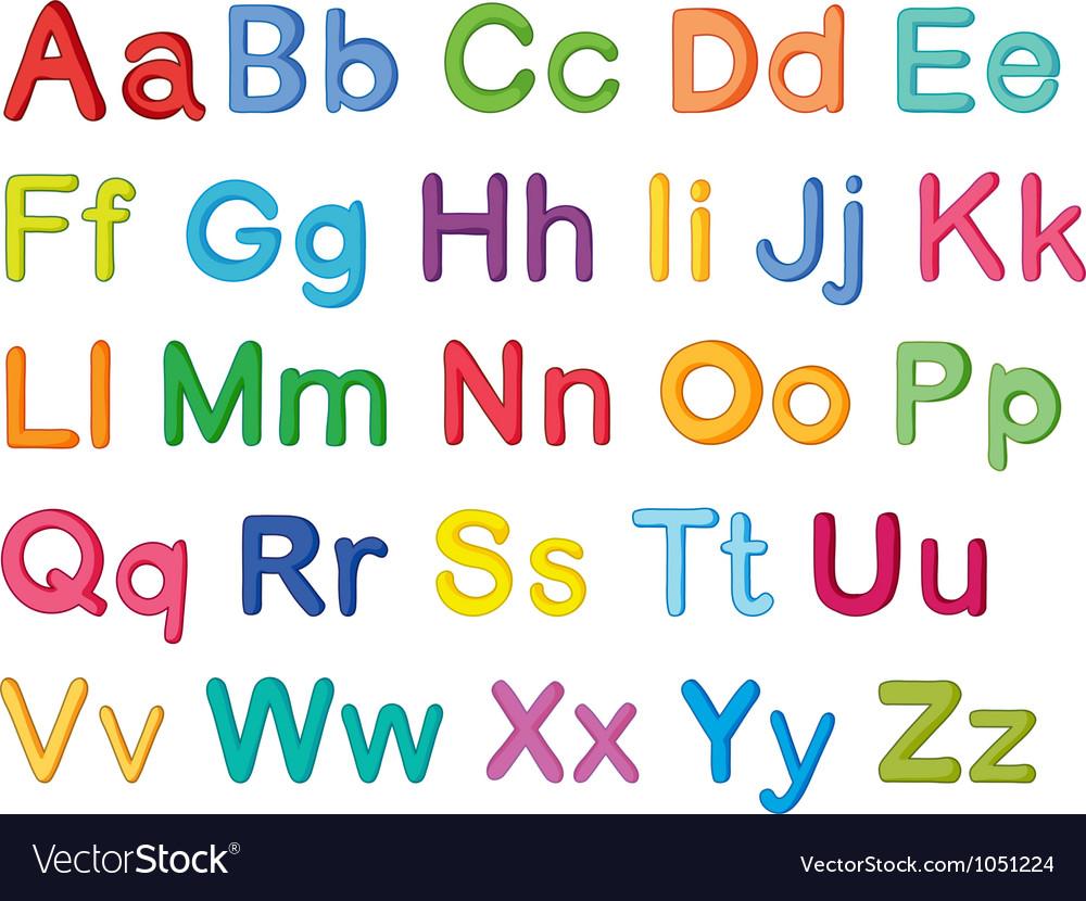 English alphabets vector | Price: 1 Credit (USD $1)