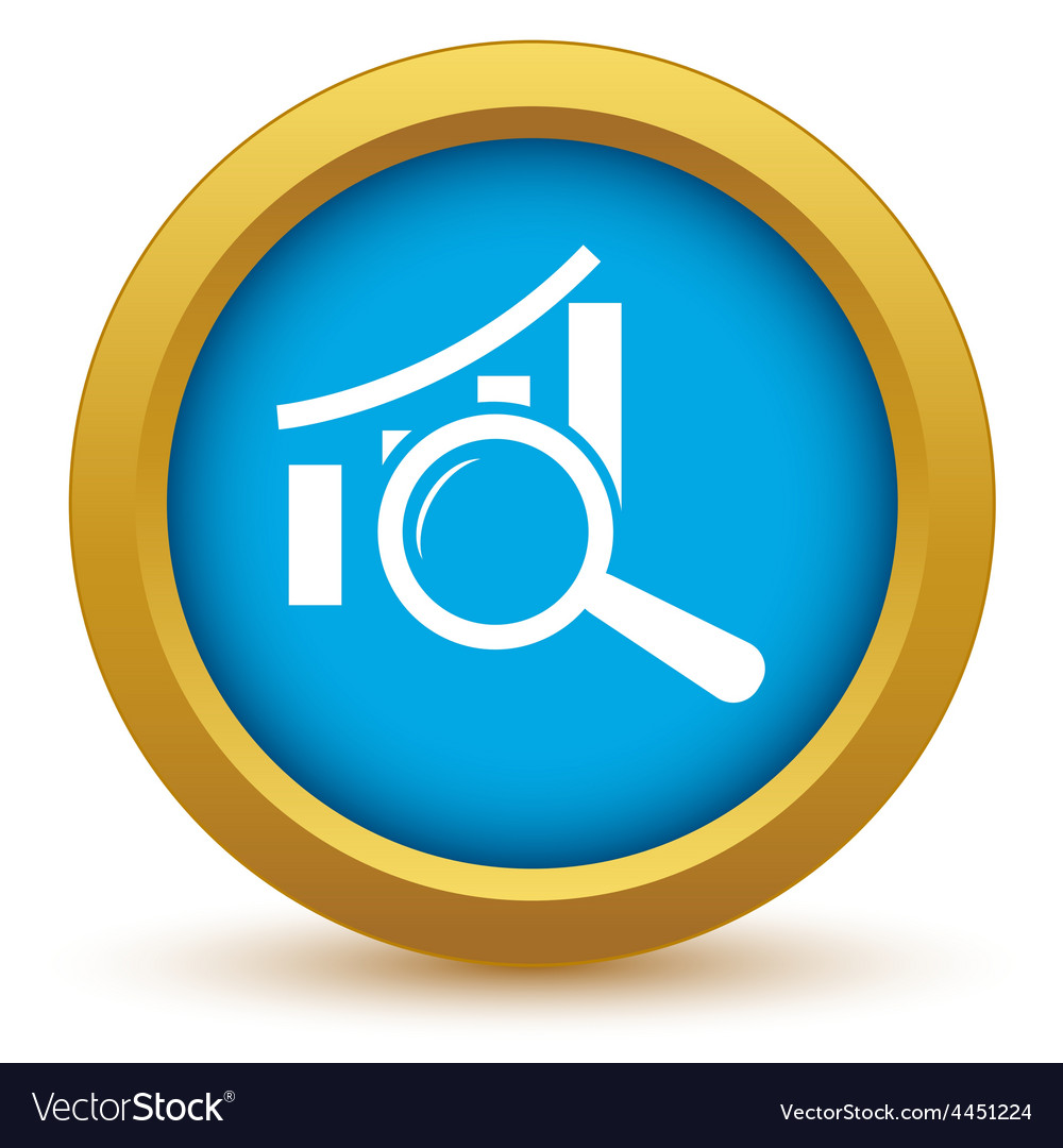 Gold graph scan icon vector | Price: 1 Credit (USD $1)