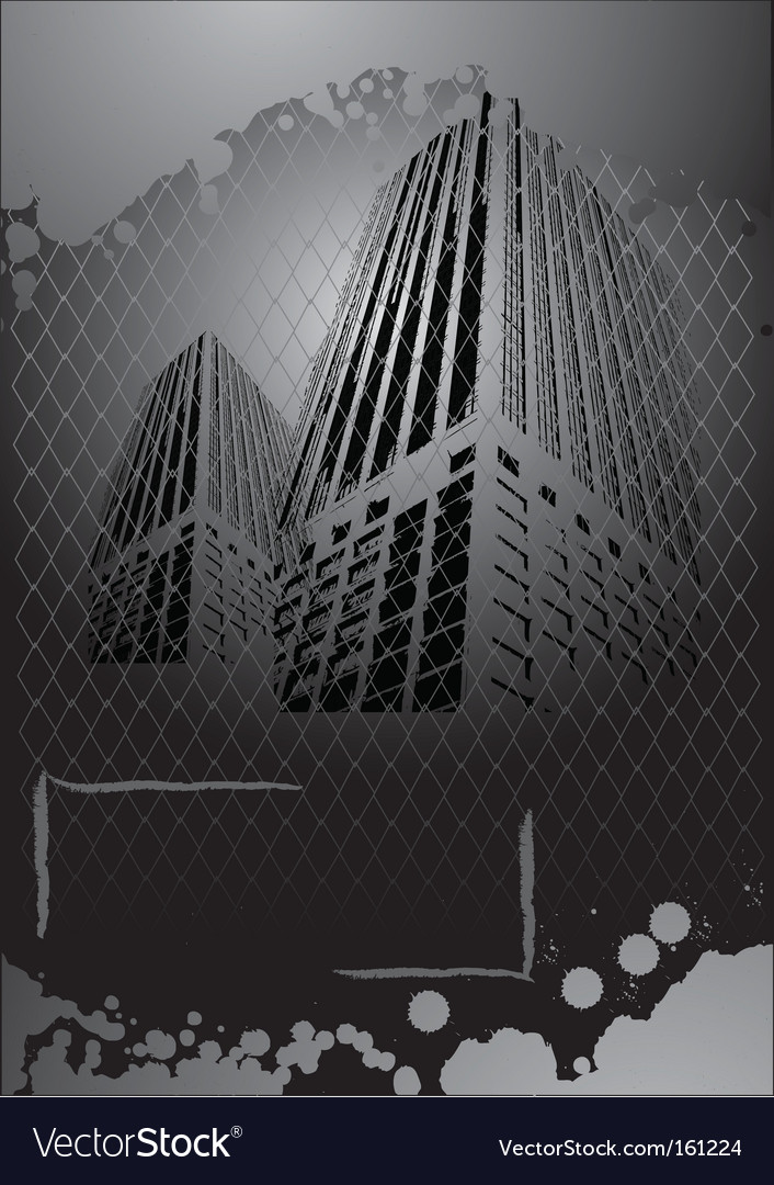 Grunge cityscape vector | Price: 1 Credit (USD $1)