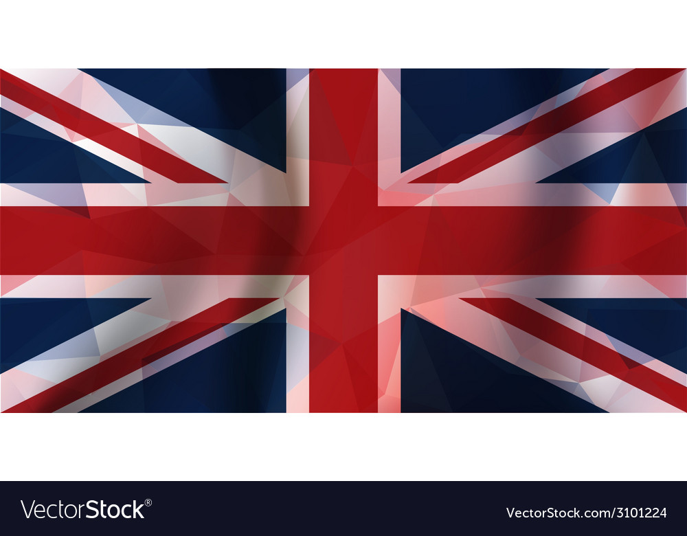 Polygonal pieces england flag vector | Price: 1 Credit (USD $1)