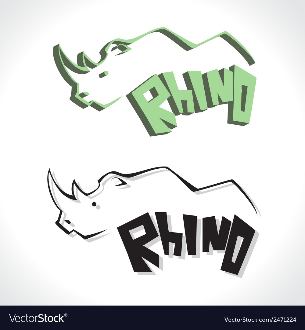 Rhino c vector | Price: 1 Credit (USD $1)
