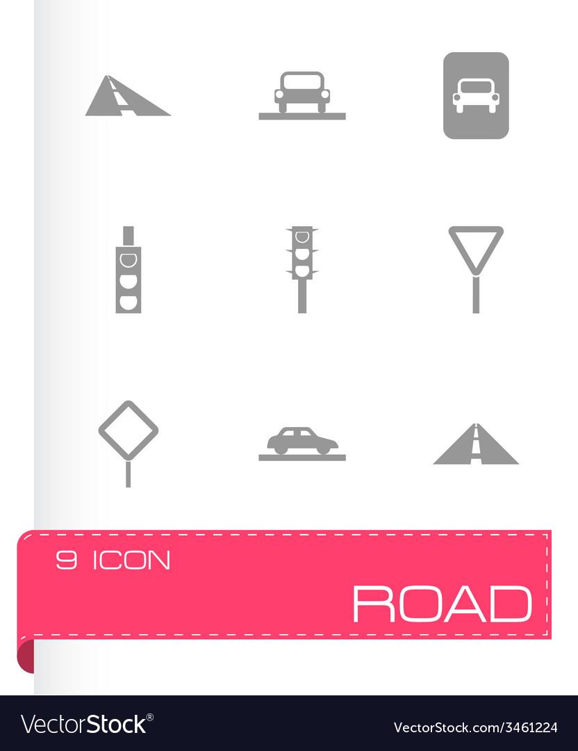 Road icon set vector   Price: 1 Credit (USD $1)