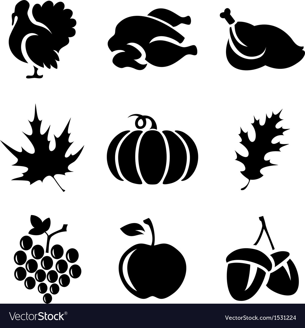 Thanksgivin icons vector | Price: 1 Credit (USD $1)