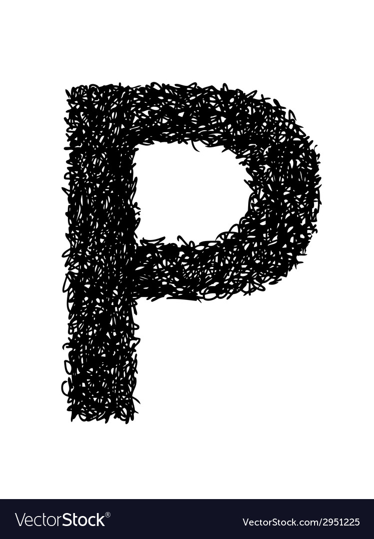 Alphabet p vector | Price: 1 Credit (USD $1)