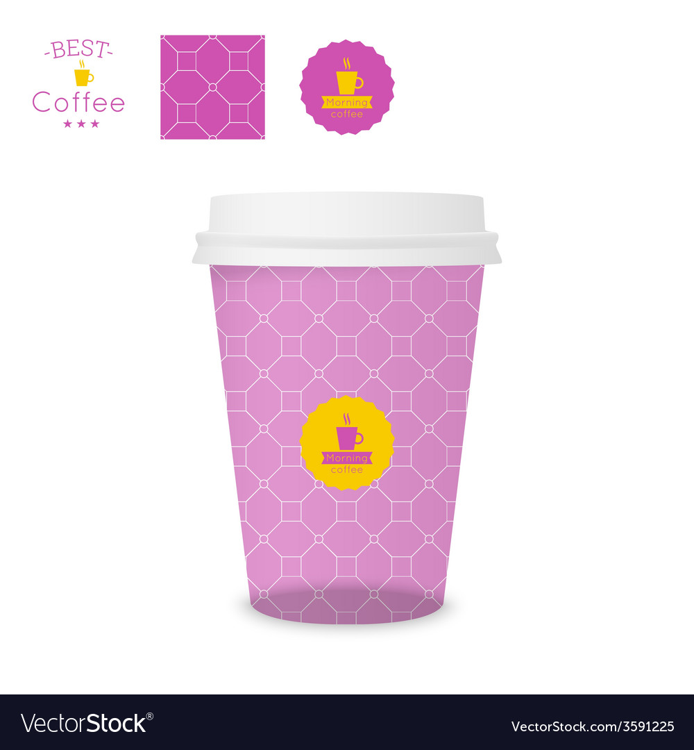 Closed paper cup for coffee with texture vector | Price: 1 Credit (USD $1)