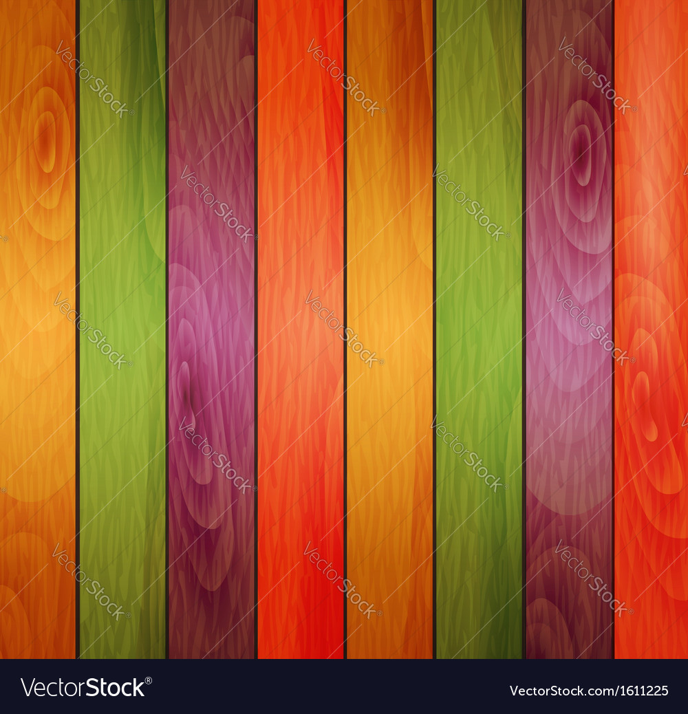 Colored wooden background vector | Price: 1 Credit (USD $1)