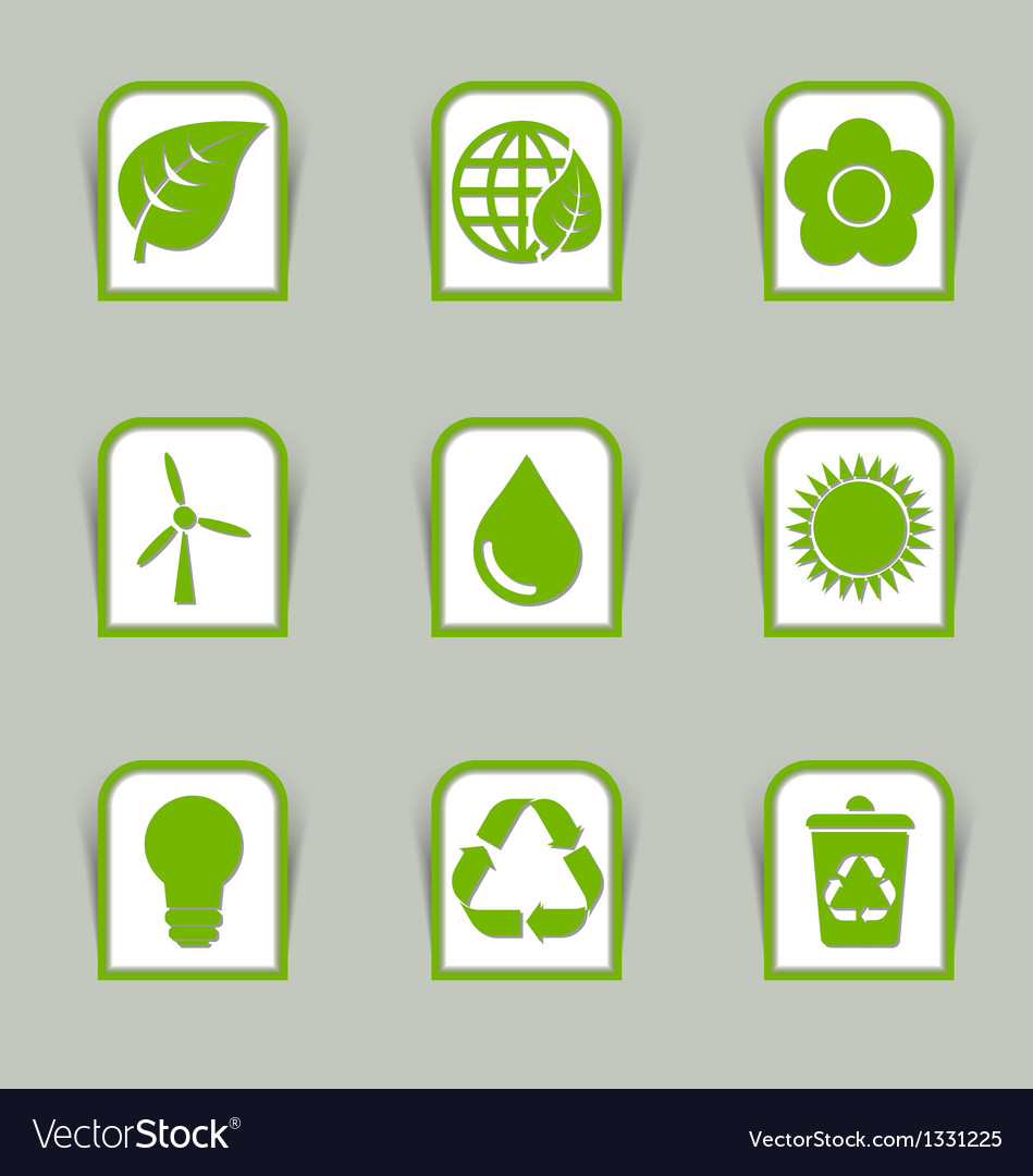 Ecological icon sticks vector | Price: 1 Credit (USD $1)