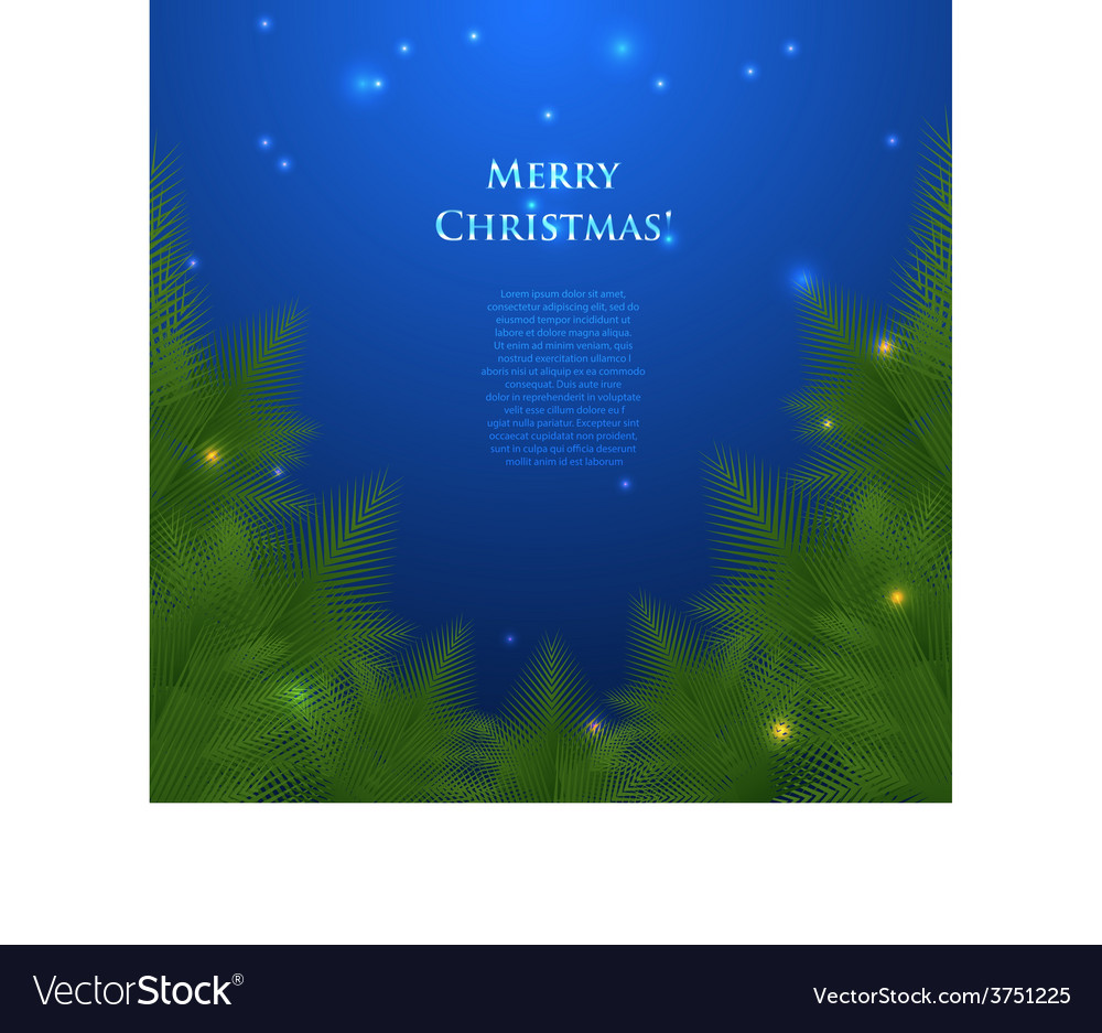 Festive christmas card with branches vector | Price: 1 Credit (USD $1)