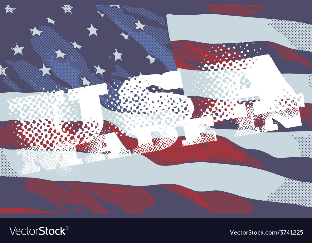 The inscriptions made in usa and flag of america vector | Price: 1 Credit (USD $1)