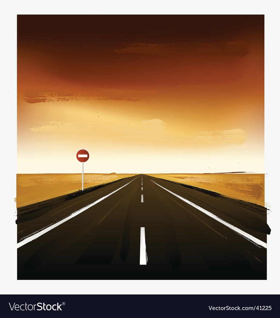 Landscape with road vector | Price: 3 Credit (USD $3)