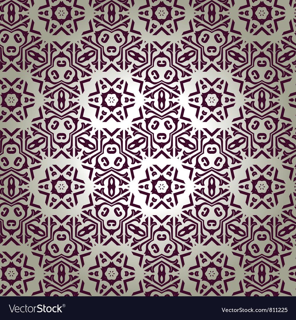 Retro floral wallpaper vector   Price: 1 Credit (USD $1)