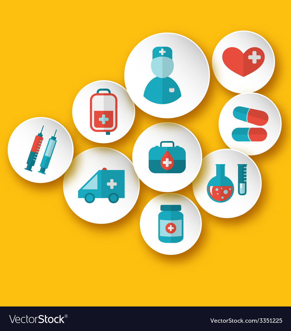 Set medical icons for web design - vector | Price: 1 Credit (USD $1)