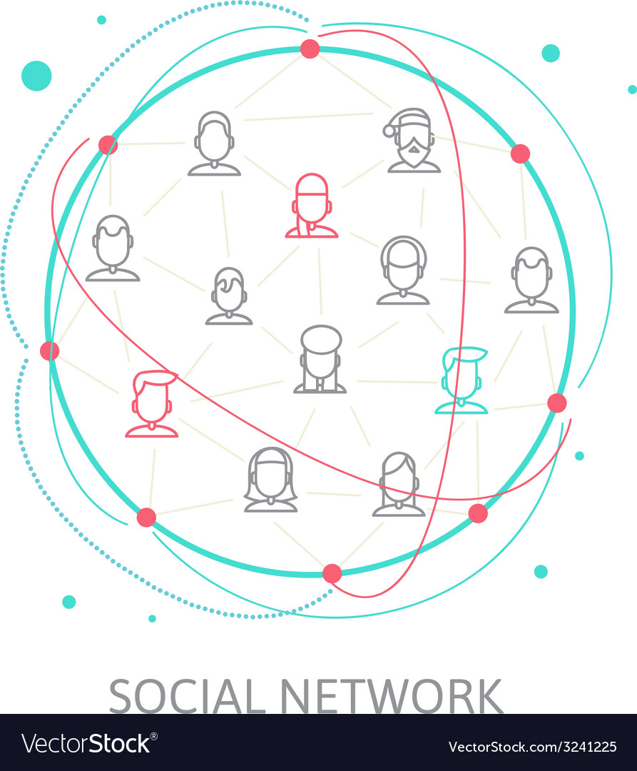 Social media circles network   icon vector | Price: 1 Credit (USD $1)