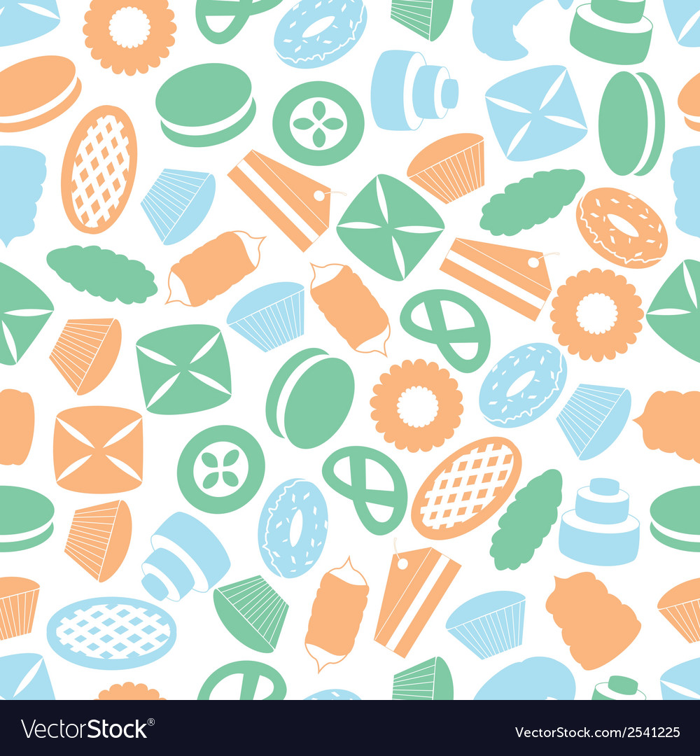 Sweet desserts colorful pattern eps10 vector | Price: 1 Credit (USD $1)