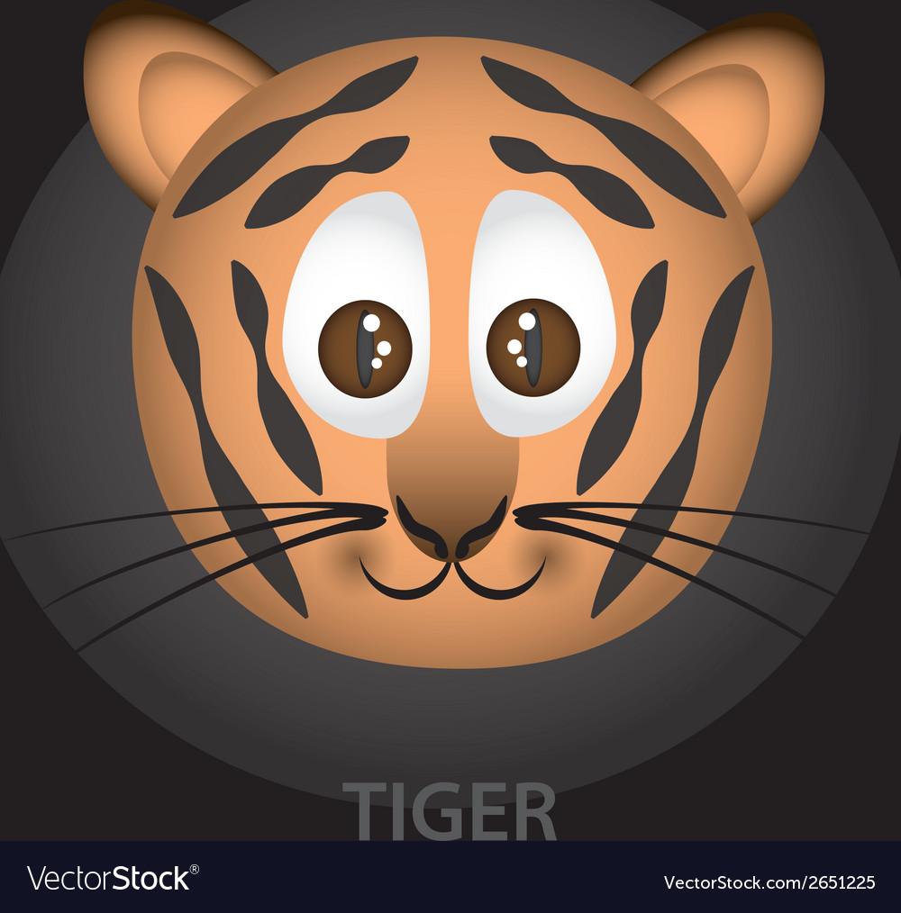 Tiger cartoon character head eps10 vector | Price: 1 Credit (USD $1)