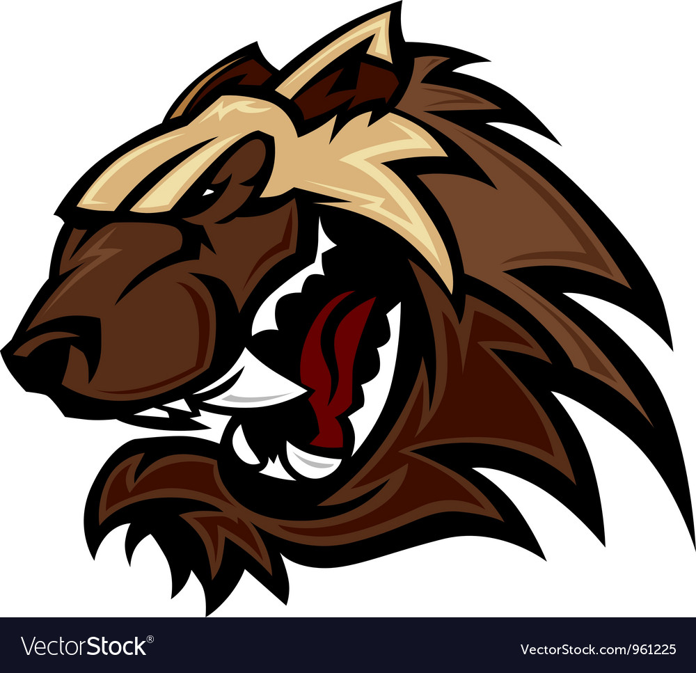 Wolverine badger mascot head vector | Price: 1 Credit (USD $1)
